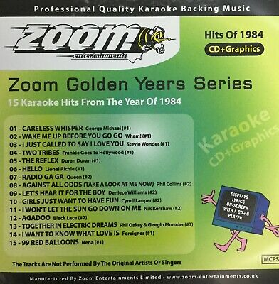 £6.99 • Buy Zoom Golden Years CDG Disc- Karaoke Hits From The Year 1984