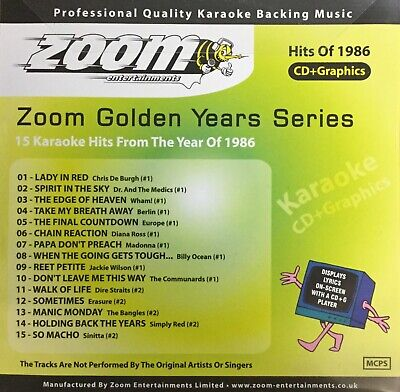£6.99 • Buy Zoom Golden Years CDG Disc- Karaoke Hits From The Year 1986