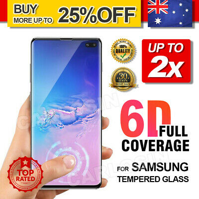 AU5.95 • Buy 2x For Samsung Galaxy S10 5G S9 Plus Note 10 9 Tempered Glass Screen Protector