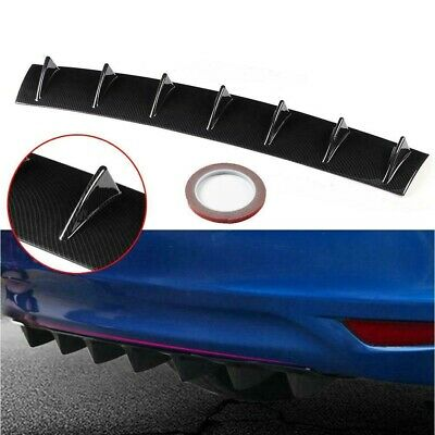 $22 • Buy 1 X Carbon Style Rear Lower Bumper Diffuser Fin Spoiler Lip Wing Splitter 34 X6