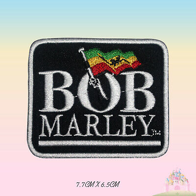 BOB Marley Rasta Flag Embroidered Iron On Sew On Patch Badge For Clothes Etc • 2.29£