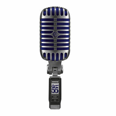 Shure SUPER 55 Deluxe Vocal Microphone, Supercardioid Pattern, Freq 60 - 17,000  • 214.92£