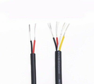 AU15.48 • Buy 20AWG 2 / 4 Cores UL2464 PVC Wire Power Signal Cable Electrical Flexible Black