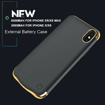 Wireless Charger Case Charging Battery Power Cover For IPhone X XR XS Max 12 Pro • 22.99£