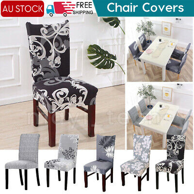 AU13.99 • Buy Stretch Spandex Chair Covers Removable Slipcovers Seat Cover Dining Decor AU