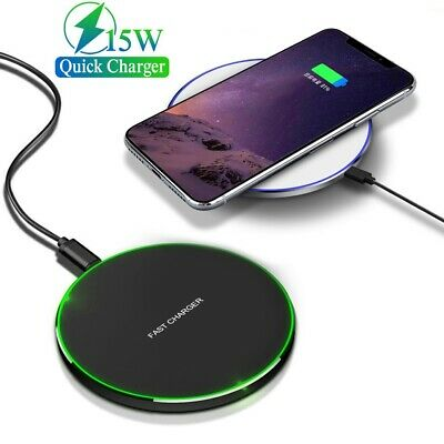 AU15.99 • Buy 15W Qi Wireless Fast Charging Charger For Samsung S10e S9 S10 Plus IPhone 12 Pro