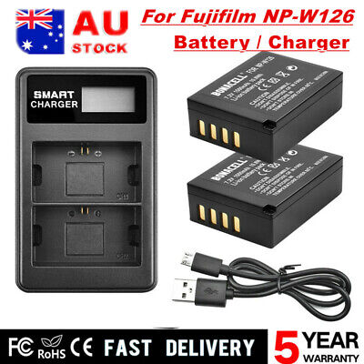 AU15.98 • Buy 2X NP-W126 Battery / Charger For Fujifilm FinePix X100F HS50EXR X-T1 X-T2 X-T10