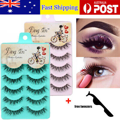 AU1 • Buy 20 Pairs Natural Thick Fake False Eyelashes Handmade Extension Eye Lashes Makeup