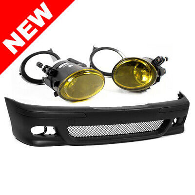 $184.99 • Buy Bmw E39 5-series M5 Style Front Bumper W/ Yellow Fog Lights