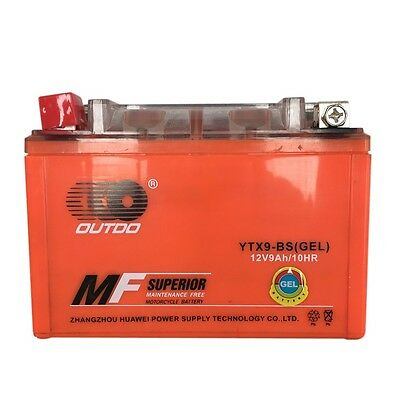 AU65.99 • Buy YTX9-BS Gel Battery 12V9AH/10HR For Suzuki LT-Z250 QuadSport Polaris Outlaw 525