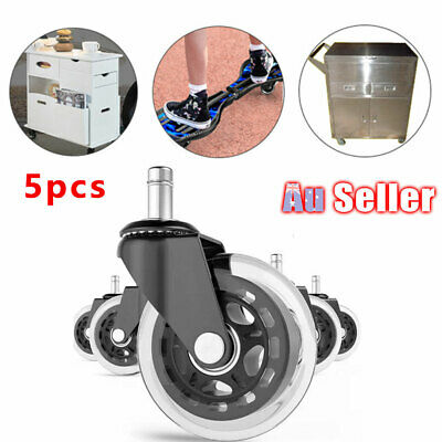 AU24.99 • Buy 5pcs Grip Office Caster Desk Ring Chair Wheels Rollerblade Rolling ACB#