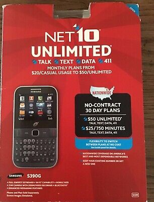 $32.99 • Buy Net10 Unlimited Samsung Full Qwerty Keyboard Cell Phone S390g Sealed - Nt6373