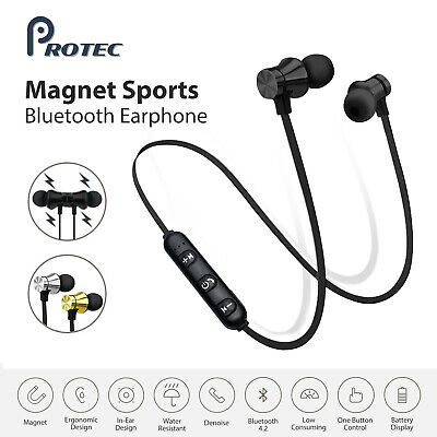 AU9.95 • Buy Sweatproof Wireless Bluetooth Earphones Headphones Sport Gym For IPhone IPad