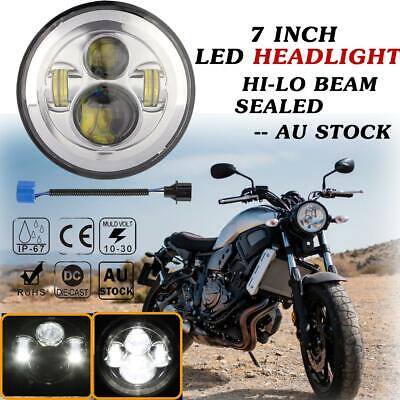 AU38.65 • Buy 7 Inch LED Headlight Hi-Low D-projector For Motorcycle Harley Touring Cafe Racer