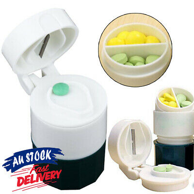 AU10.75 • Buy 4 Layers Box Storage Hot Grinder Cup Cutter Pill Crusher Splitter Tablet Divider