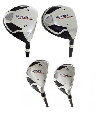 $169.95 • Buy AGXGOLF MEN'S MAGNUM XS WOODS (3 & 5) AND 3 & 4 HYBRID IRONS SET: W/HEAD COVERS
