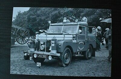 Fire Engine Fire Appliance Photo - Hoover Ltd Fire Brigade LKG 390 (ref280) • 3£