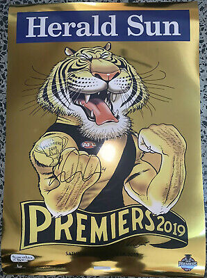 AU449.95 • Buy 2019 Gold Foil Richmond Tigers Premiers Poster Hand Signed Dustin Dusty Martin
