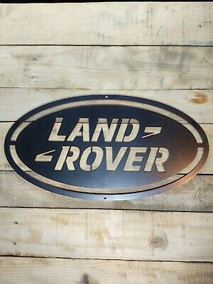 *Premium* LAND ROVER Logo Metal Sign Hand Finished Wall Art JEEP 4x4 RANGE SPORT • 27.50£