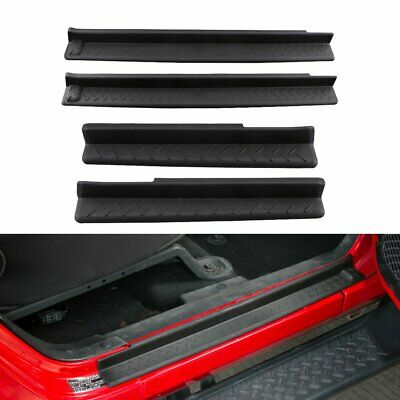 $26.95 • Buy 4X ABS Step Protector Door Sill Entry Guard Cover For Jeep Wrangler JK 2007-2018
