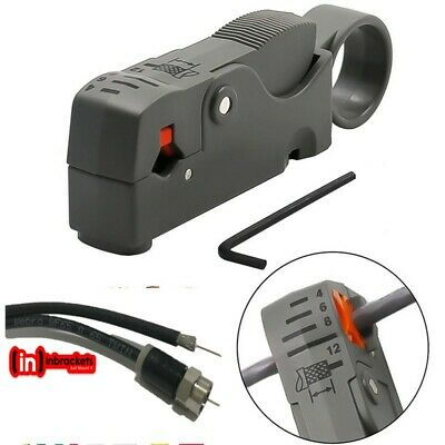 £4.99 • Buy Coax Cable Stripper Coaxial  Strip Tool Automatic - Aerial Satellite CT100 Rg6