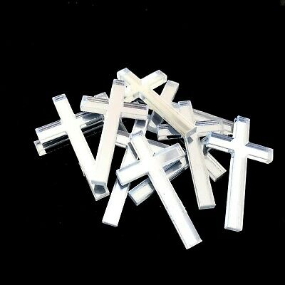 £5.99 • Buy Cross Shaped Crafting Mirrors, Set Of 10, Many Colours, Shatterproof Acrylic