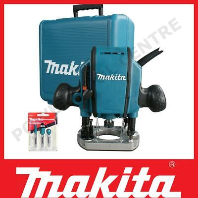 Makita RP0900X 230V 1/4  Plunge Router W/ Straight Guide & Router Bits In Kitbox • 149.99£