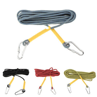 25KN 33/66ft Climbing Rope Mountain Rock Escape Fire   Aerial Work Cord • 23.12£