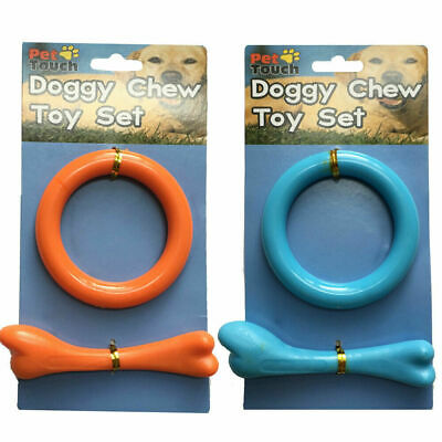 2 X Dog Chew Toys Kit Tough Strong Bone Pet Puppy Cotton Teething Toy Uk • 3.59£
