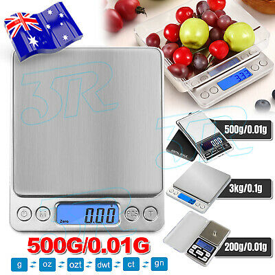 AU13.95 • Buy 3kg/0.1g Kitchen Digital Scale LCD Electronic Balance Food Weight Postal Scales