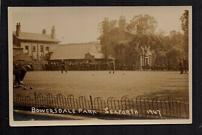Seaforth, Liverpool, Between Crosby & Bootle - Bowersdale Park - RP Postcard • 12£