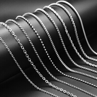 AU5.05 • Buy 9 Styles Men Women Silver Stainless Steel Snake Keel Link Chain Necklace 50-60cm