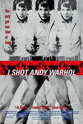 $50 • Buy I SHOT ANDY WARHOL ORIGINAL ROLLED 27x41 MOVIE POSTER 1996 RARE VALERIE SOLANAS