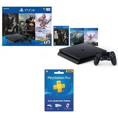 View Details PlayStation 4 Slim 1TB Console Bundle Only On PS4+PlayStation Plus 3 Month Membe • 254.99$