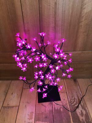 Japanese Style Blossom Tree Light / Table Lamp - Deep Pink - 49cm High Approx  • 14.99£