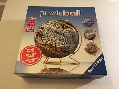 $8.49 • Buy Ravensburger 3D Puzzle Ball Ancient World Map Globe 540pcs W/ Stand