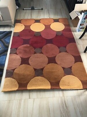 AU150 • Buy Brink And Campman 100% Wool Rug Thick Pile 2.3m X 1.6m Orange And Peach Colour