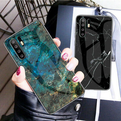 AU17.99 • Buy For Huawei Y5 Y9 2018 Y6 Pro Y7 Y9 2019 Marble Pattern Tempered Glass Case Cover