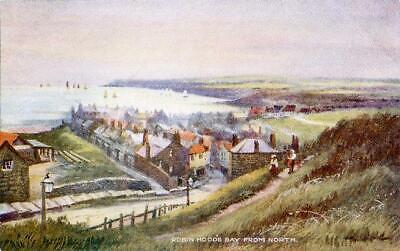 Printed Postcard Of Robin Hood's Bay From North, North Yorkshire By Ross, Whitby • 5£