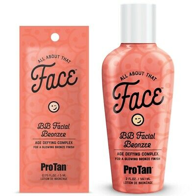 Pro Tan All About That Face BB Natural Facial Bronzer Sunbed Tanning Lotion NEW • 2.50£