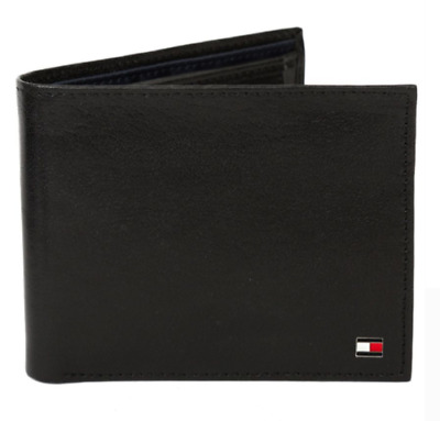 AU29.99 • Buy Tommy Hilfiger Men's Leather Wallet Passcase Billfold Rfid Red Navy 31TL220055