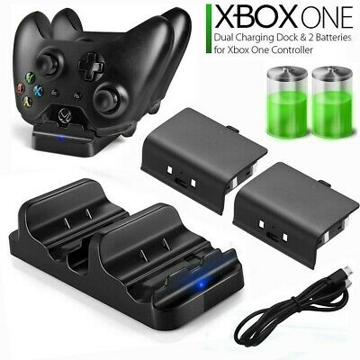 $10.99 • Buy XBOX ONE Dual Charging Dock Station Controller Charger + 2 Extra Battery Packs