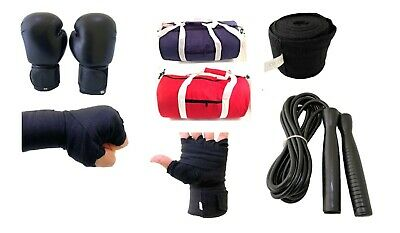 £59.99 • Buy New Boxing KIT Real Leather Gloves Gym Bag Shorts Vest Wraps Professional Train