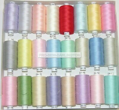£18.99 • Buy 24 X MOON LIGHT PASTEL COLOUR POLYESTER SEWING THREADS COTTON 120s