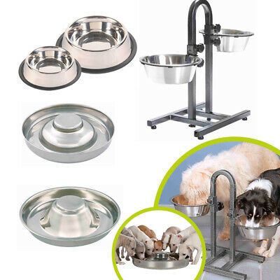 Trixie Stainless Steel Dog Bowl Food Water Dish Puppy Pet Feeding Station • 13.99£