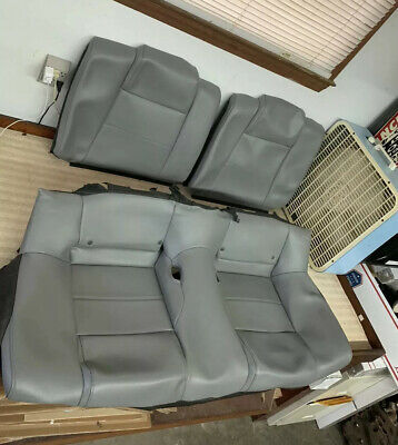 $349.99 • Buy Ford Mustang Rear Seat Covers Coupe Leather  Grey Gray Dove Oem 05 06 07 08 09
