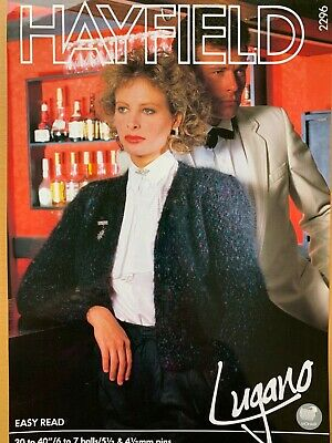 Ladies Mohair Evening Jacket Knitting Pattern Chest 30 - 40 .  YE244 • 2.21£