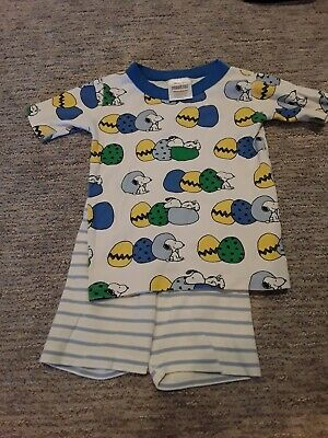 $9 • Buy Hanna Andersson Snoopy Easter Pajamas Size 100 Short John