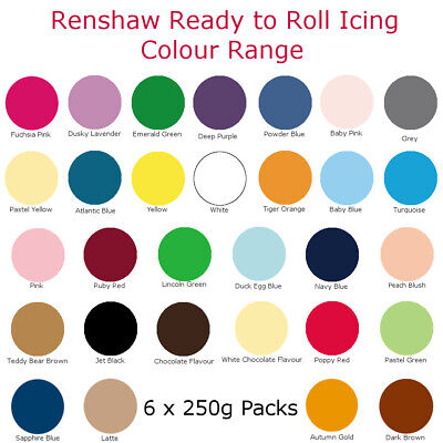 1.5Kg Renshaw Ready To Roll Colour Cake Icing Fondant Sugarpaste For Decorating • 9.99£