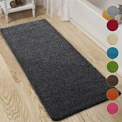 Large Non Slip Bathroom Rugs Shaggy Soft Fluffy Bath Mat Absorbent Shower Mats • 16.99£